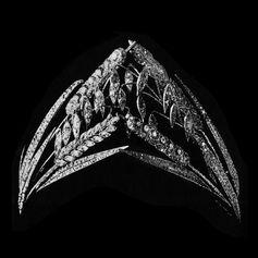 The Epic de Blé diamond tiara, created for Béatrice Ephrusse in July 1898.