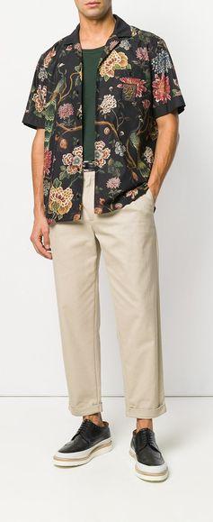 Dolce & Gabbana Flower and Leopard Print Shirt