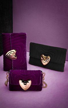 Small Velvet Heart Bag
