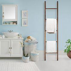 American Trails Farmhouse Style Solid American Walnut Decorative Ladder
