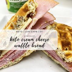 Stupid Easy Keto Cream Cheese Waffle Bread- Low Carb