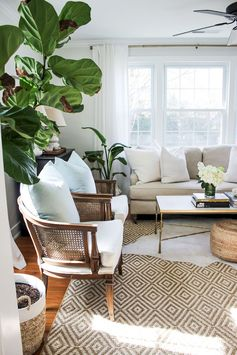 Gorgeus neutral living room ideas (13)