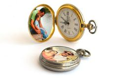 Father's Day gift idea - add a photo to an old pocket watch so Dad can take his favorite people with him wherever he goes. You can print your photo on the KODAK Picture Kiosk or with the My KODAK MOMENTS app.