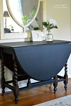 Vintage Gateleg Table Before and After! -
