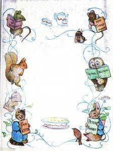 Juvenile - Beatrix Potter -  Page border - Tom Kitten, Peter Rabbit, et al.