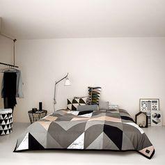 Grand couvre-lit en coton biologique Ferm Living sur Decoclico