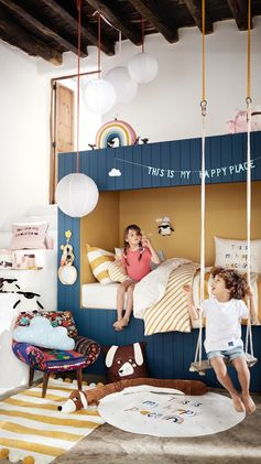 H&M HOME | My room, my happy place. Fill your child's bedroom with wonder: dreamy bedlinen, cushions, rugs and toys.