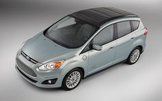 Ford's C-MAX Solar Energi Concept is powered by a solar roof panel, rolls to CES next week