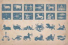 Vintage Astrology Illustrations by Mr Vintage on @creativemarket