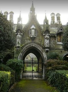 Gothic gatehouse in England