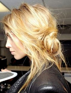 Hairstyles for Girls Who Can't Style Their Hair | 'I Woke Up Like This' Messy Bun