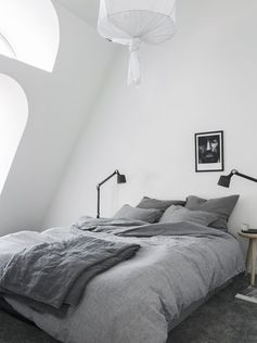 Bedroom under the rooftop