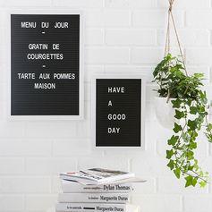 Letters boards alpha noir - tableau noir