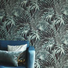 Papier peint intissé Feuillage vert #leroymerlin #papierpeint #wallpaper #ideedeco #madecoamoi