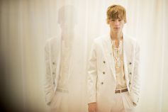 Behind the scenes at the BOSS Menswear fashion show in New York City, where the new collection 'Summer of Ease' was presented