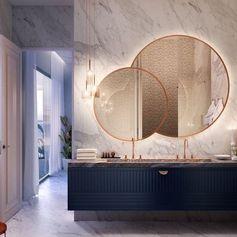 Sobreposição! Quem aí faria? #espelho #redondo
