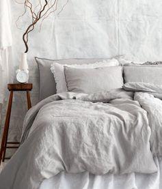 HM Home  Linen duvet cover grey