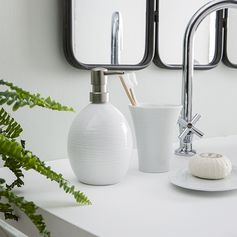 Gobelet en porcelaine blanche - Distributeur en porcelaine blanche