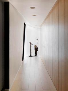 A modern hallway with plenty of light.