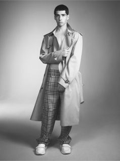 Jacob in the Vintage check high-waisted trousers and honey trench, shot by #DavidSims  A new collaboration in support of #CoolEarth #VivienneWestwoodandBurberry