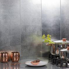 Requiem Silver 10X30 Glass Tile