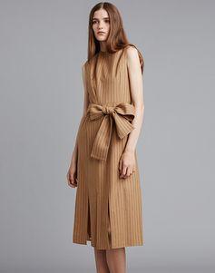 LE CIEL BLEU ピンストライプスウィングドレス