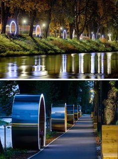 Circular Seating Along This River Help Locals Learn The History Of The Area