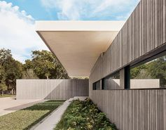 Corrugated Concrete Walls Cover This House In Texas