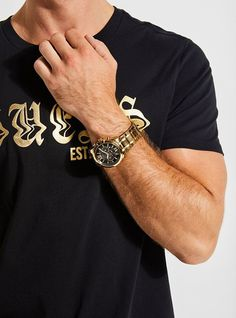 Gold-Tone Multifunction Watch, the perfect gift for him