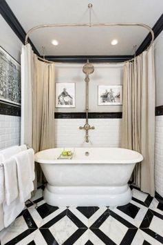 Vintage Pattern-Packed Bathroom.