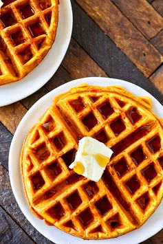Pumpkin Waffles {Recipe & Video)