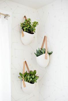 Handig! De damp die vrijkomt tijdens het douchen lekt vanzelf in deze bloempotten. Zet er een stel vetplanten in en je hoeft bijna nooit meer water te geven!
