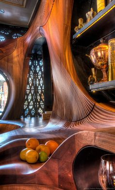 This Bar In Toronto Is Filled With Curvaceous Wood