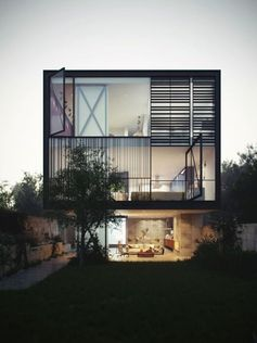 Modern contemporary luxury home glass and steel