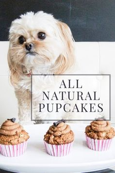 All Natural Apple Peanut Butter Pupcakes #dogtreats #pupcakes #cupcakes #dog #dogcake #dogcupcake #pup #puppy #baking #baker #bake #homemade #treats #puppytreats #allnatural #peanutbutter #apple #yummy #puppyparty #dogparty #birthday