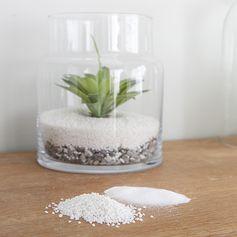 Terrarium - sable décoratif - pierres décoratives naturelles