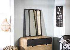 Miroir atelier en métal rectangulaire decoclico Factory - noir
