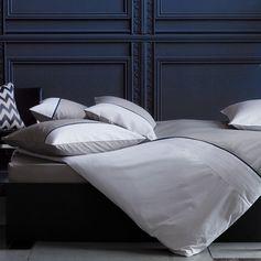 Housse de couette et taies coton bicolore Délicieuse Griotte Blanc Cerise : Decoclico