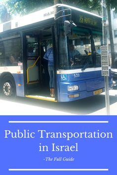 Full Guide to Public Transportation in Israel - Backpack Israel