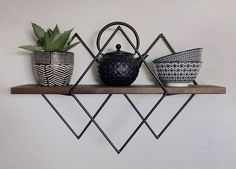 Wall Decor Ideas – Geometric Wall Shelves by Village Craft Co.