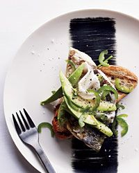 Recipe for Grilled Mackerel with Lardo, Avocado and Jalapeño on Toast from the chef at Catbird Seat in Nashville.