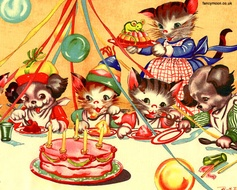 'Birthday Party' by Ruth E Newton for Michael Miller