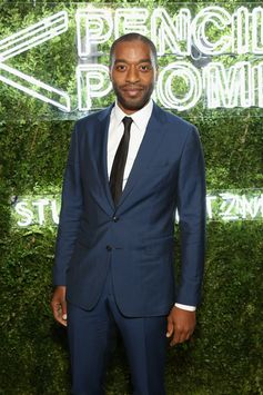 Actor Chiwetel Ejiofor wears Burberry tailoring to the Pencils Of Promise gala in New York