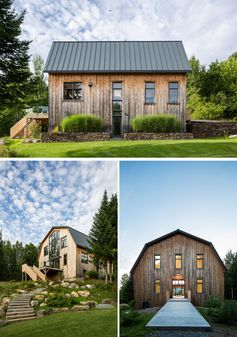 Architecture studio La Firme, have completed the modern restoration of a 100 year old barn in Quebec, Canada. #ModernBarn #Barn #Architecture
