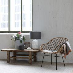 coup de coeur pour ce fauteuil en rotin naturel proposé par la marque nordique Hübsch