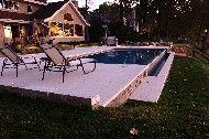 deep fiberglass pools