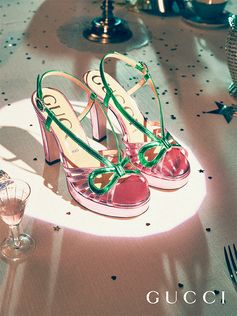 Reminiscent of styles worn in the 1920s and 1930s, new cutout sandals feature a high-heeled platform.