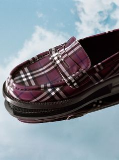 Check loafers are remastered with modern details for the limited-edition #GoshaRubchinskiyXBurberry capsule collection