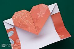 Origami Heart Envelope-so simple! I love this!