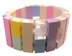 Kawaii Pastel bracelet - made from LEGO® bricks on stretchy cords - Fairy Kei - Sweet Lolita or Collectible bracelet Model 21 - made from LEGO® bricks on stretchy cords REMINDER LEGO® is a trademark of the LEGO Group which does not sponsor, authorize or endorse the creations of Mademoiselle Alma.